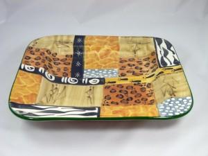 """Große Servierplatte """"African Safari"""", 38 x 38 cm"""
