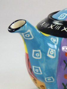 Ein Feuerwerk der Farben - die apula Teekanne Multicoloured Ethnic